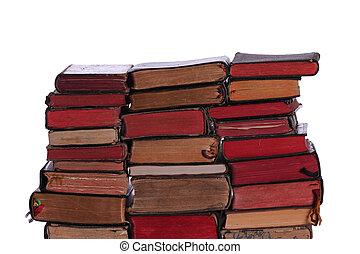 mur, livres, vieux