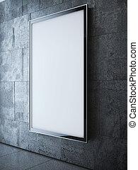 mur, lumière, moderne,  softbox, rendre, intérieur,  3D