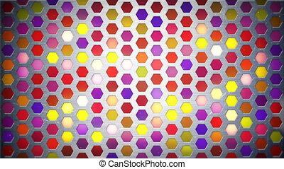 mur, lumière, multicolore, boucle, fond