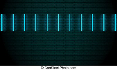 mur, lumières, néon, futuriste