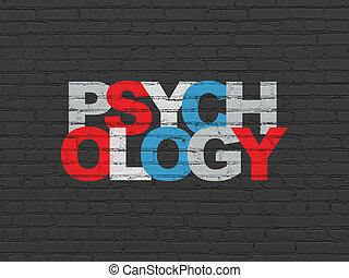 mur, médecine, concept:, psychologie, fond