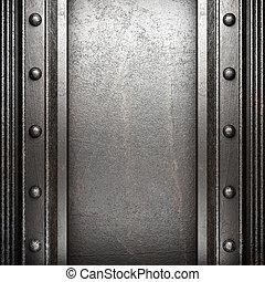 mur, métal