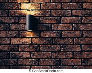 mur, maçonnerie, brique concrète, salle, fond, conception