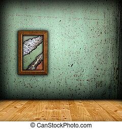 mur, minimaliste, vert, toile de fond