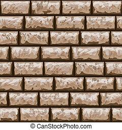 mur, modèle, brique, sale, seamless