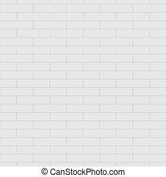 mur, modèle, seamless, vecteur, brique blanche