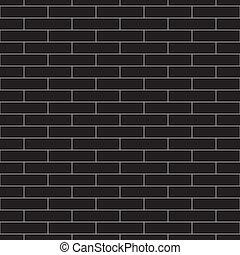 mur, modèle, seamless, vecteur, noir, brique