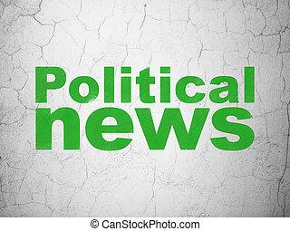 mur, nouvelles, politique, concept:, fond