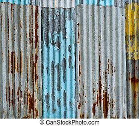 mur ondulé, métal