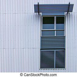 mur ondulé, moderne, veuve