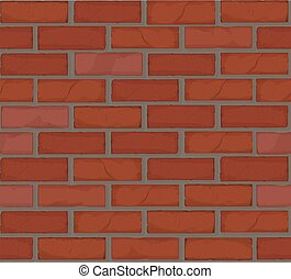 mur, pasttern, brique, seamless