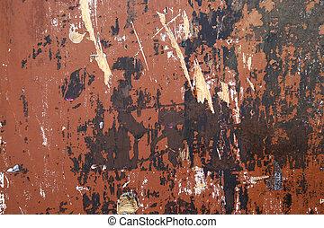 mur peint, porté
