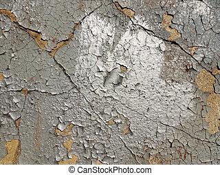 mur peint, vieux, texture