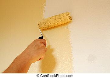 mur, peinture