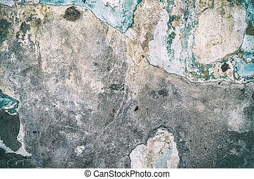 mur, peinture, vieux, ciment