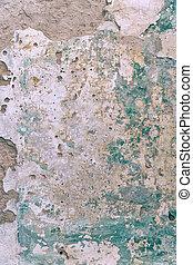 mur, peinture, vieux, sale, ciment