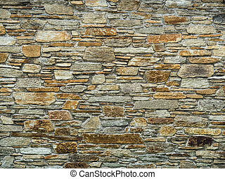 mur, pierre, écran, jardin