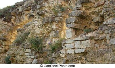 mur, pierre, ancien, vieux, château