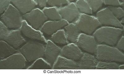 mur, pierre, chute eau, fond, artificiel