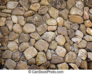 mur, pierre, fait, fond, rocher