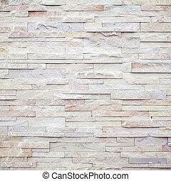 mur pierre, moderne, texture, fait surface, brique blanche