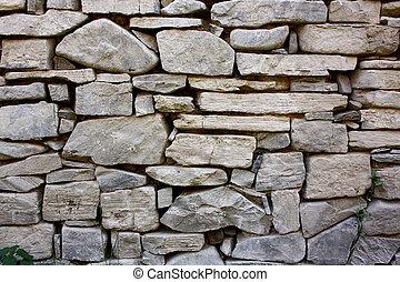 mur pierre, rocher
