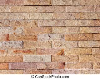 mur, pierre, sable, brique
