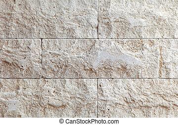 mur, pierre, tuiles