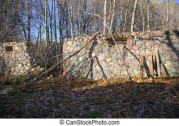 mur, pierre, vieux