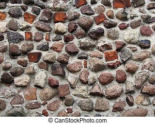 mur, pierreux