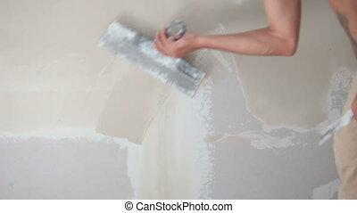 mur, plâtrer