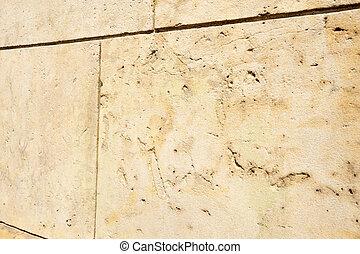 mur, plat, grès