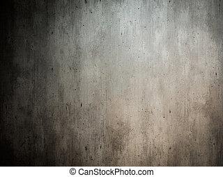 mur, poignée porte, vieux