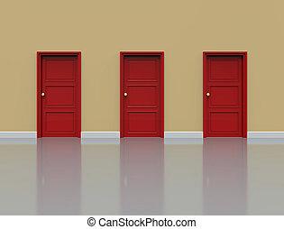 mur, portes