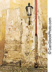 mur, prague, texture