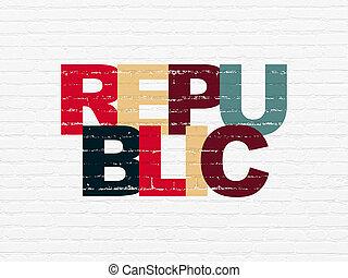 mur, république, politique, concept:, fond