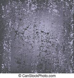 mur, résumé, grunge, gris, fond