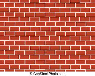 mur rouge, brique