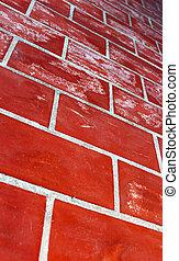 mur, rouges