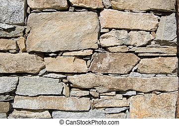 mur, rural, pierre