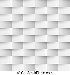 mur, seamless, arrière-plan., vecteur, textured, blanc, 3d