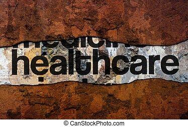 mur, texte, healthcare