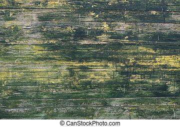 mur, texture, arrière-plan., bois, porté, planche