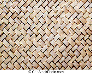mur, thaï, indigène, style, bambou