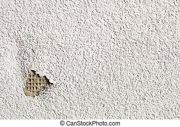 mur, toqué, plâtré