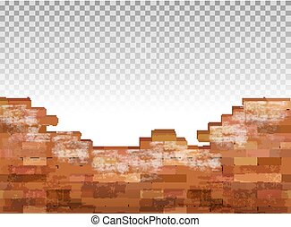 mur, vendange, brique, vecteur, arrière-plan.