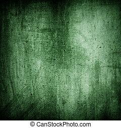 mur, vert, grunge, texture, fond