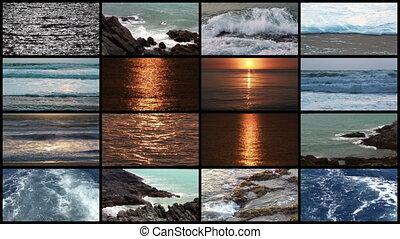 mur, vidéo, océan, divers, vagues