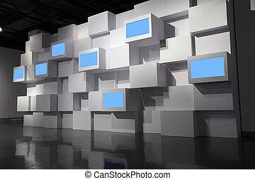 mur, vidéo