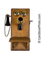 mur, vieux téléphone